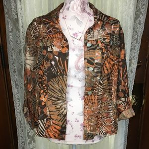 Printed Ruby Rd. Button up blouse size 12